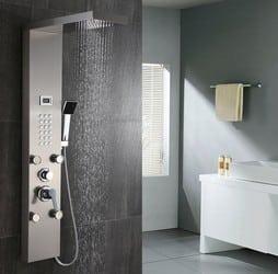 sortes de colonne de douche