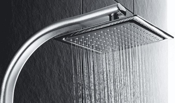 Test Colonne de douche à effet pluie TecTake