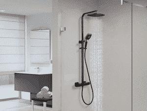 Avis colonne de douche thermostatique noire Auralum
