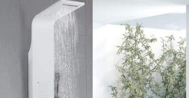 Meilleure colonne de douche blanche