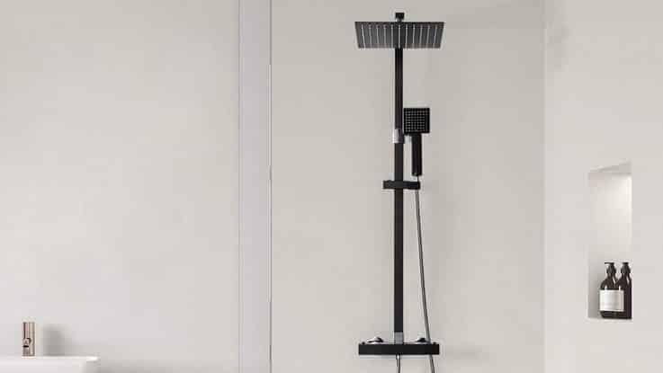 Test colonne de douche Auralum design carré